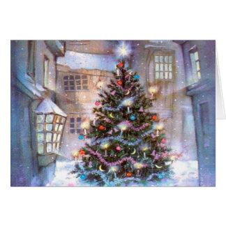 Weihnachtsbaum Vintag Grußkarte