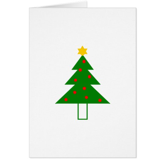 """""""Weihnachtsbaum"""" Weihnachtskarte Karte"""