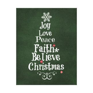 Weihnachtsbaum-Wörter Leinwanddrucke