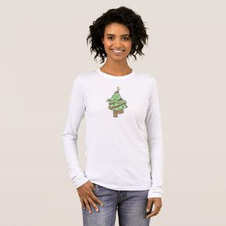 Weihnachtsbaum - Yoga-Baum-Pose Langarm T-Shirt