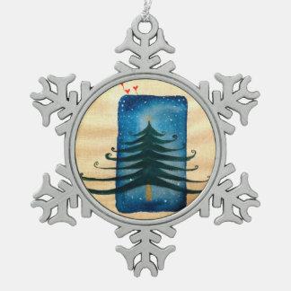 Weihnachtsbaum-Zinn-Schneeflocke-Dekoration Schneeflocken Zinn-Ornament