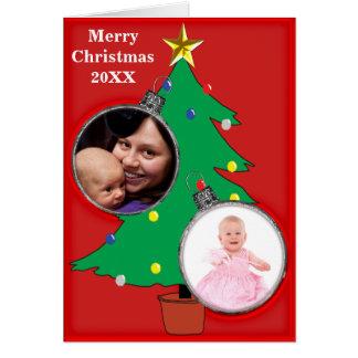 Weihnachtsbaum zwei verzieren Karte der