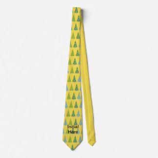 Weihnachtsbäume in den bunten Druckmustern Krawatte