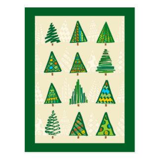 Weihnachtsbäume Postkarte