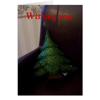 Weihnachtsbaumkissen im Stuhl Karte