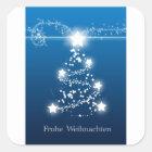 Weihnachtsbaumstern Frohe Weihnachten Quadratischer Aufkleber