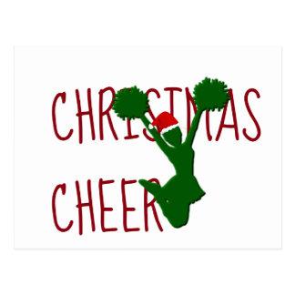 Weihnachtsbeifall-Cheerleader-Feiertags-Geist Postkarte