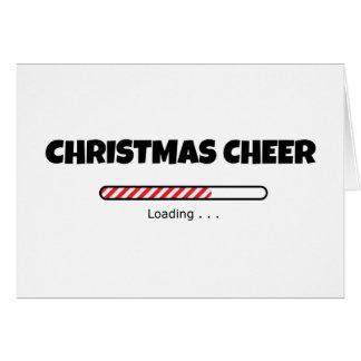 Weihnachtsbeifall - Fortschritts-Bar - Laden Karte