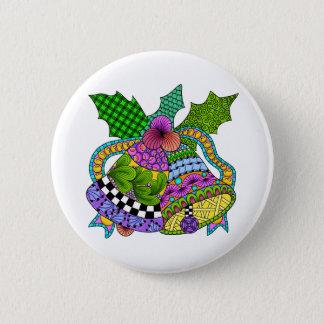 Weihnachtsbell-Drehung Runder Button 5,1 Cm