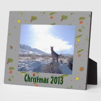 Weihnachtsbirnen-Winter Pinecones Bild-Plakette Fotoplatte