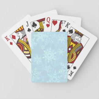 Weihnachtsblaue Schneeflocke-Spielkarten Spielkarten