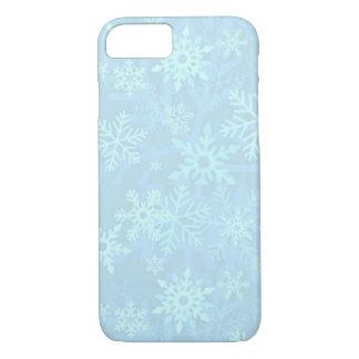 Weihnachtsblauer Schneeflocken iPhone 7 Kasten iPhone 8/7 Hülle