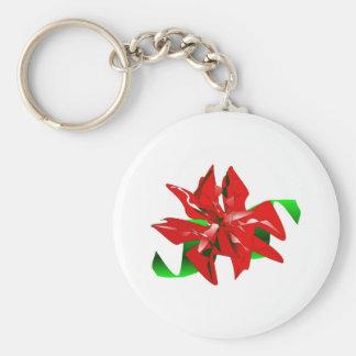 WeihnachtsBlume Keychain kundengerecht Schlüsselanhänger