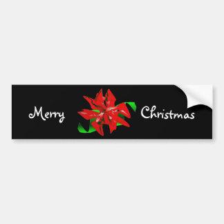WeihnachtsBlumen-Autoaufkleber - kundengerecht Autoaufkleber