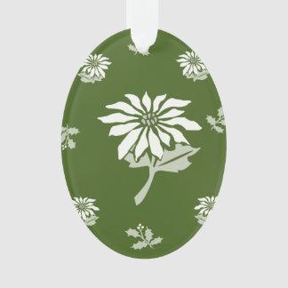 WeihnachtsBlumen-Dekoration mit weißer Poinsettia Ornament