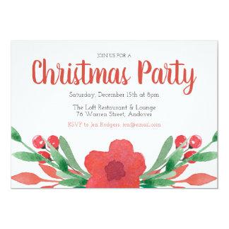 WeihnachtsBlumen-Feiertags-Party Einladung