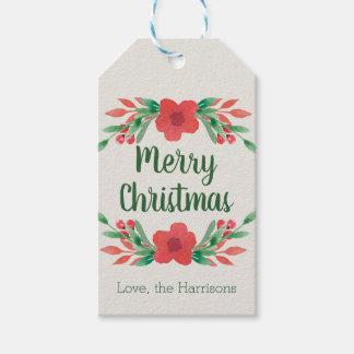 WeihnachtsBlumen-personalisierte Geschenk-Umbauten Geschenkanhänger