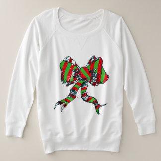 Weihnachtsbogen-Sweatshirt - für Frauen Große Größe Sweatshirt