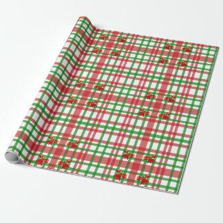 Weihnachtsbögen und -streifen geschenkpapierrolle