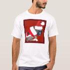 Weihnachtsboxer-Welpen-T - Shirt