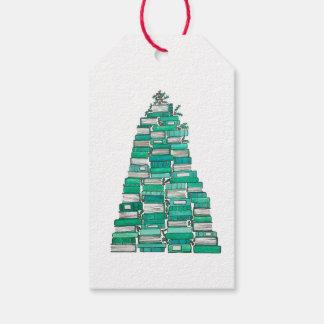 Weihnachtsbuch-Baum-Geschenk-Umbauten Geschenkanhänger
