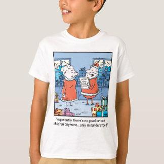 WeihnachtsCartoon Sankt gut und schlechte Liste T-Shirt
