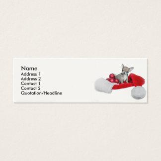 WeihnachtsChihuahuahund Mini Visitenkarte