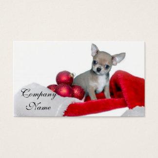WeihnachtsChihuahuahund Visitenkarte