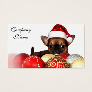 WeihnachtsChihuahuawelpe Visitenkarte