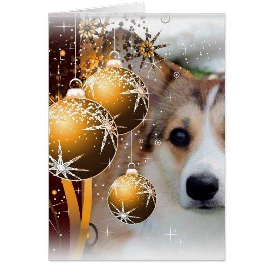Weihnachtscorgi-Zobel Grußkarte