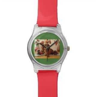 WeihnachtsDackel (Version 1) Armbanduhr