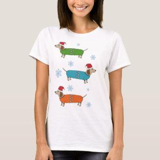 WeihnachtsDackel-Wurst-HundeweihnachtsT - Shirt
