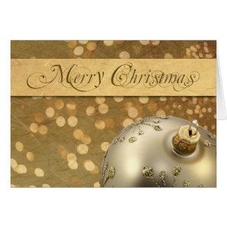 Weihnachtsdekoration mit Lichtern Karte