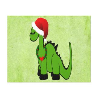 Weihnachtsdinosaurier Leinwanddruck