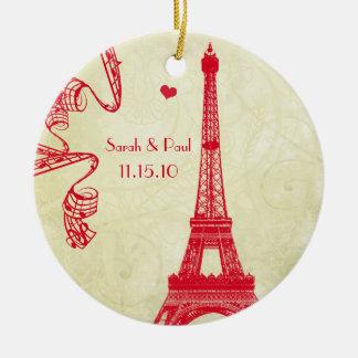 WeihnachtsEiffelturm Keramik Ornament
