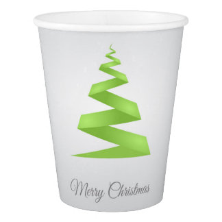 Weihnachtseinfacher Band-Weihnachtsbaum Pappbecher