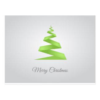Weihnachtseinfacher Band-Weihnachtsbaum Postkarte