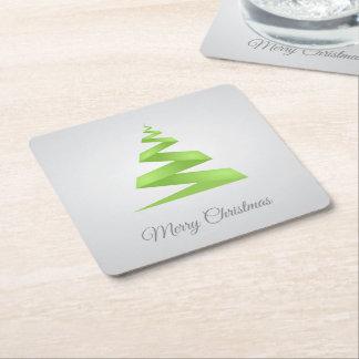 Weihnachtseinfacher Band-Weihnachtsbaum Rechteckiger Pappuntersetzer
