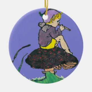 ~ Weihnachtself-altes Illustration ~ Keramik Ornament