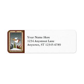 Weihnachtsengel (2) Inspektions-Aufkleber Rückversand-Adressaufkleber