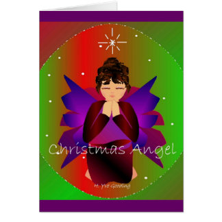 Weihnachtsengel Grußkarte