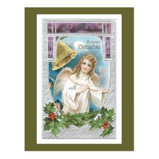 Weihnachtsengel mit Bell Postkarte