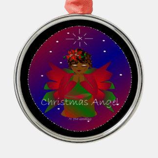 Weihnachtsengels-Baby auf der ganzen Welt in Rundes Silberfarbenes Ornament