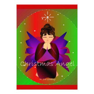 Weihnachtsengels-Baby-Beten Einladungskarten