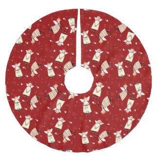 Weihnachtsengels-Baum-Rock, gebürstetes Polyester Polyester Weihnachtsbaumdecke