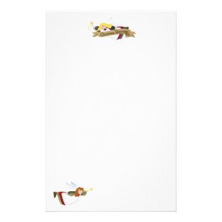 Weihnachtsengels-Briefkopf/Briefpapier Briefpapier
