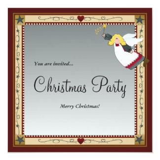 Weihnachtsengels-Einladungen Karte