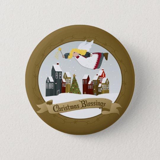 Weihnachtsengels-Knöpfe/Buttone Runder Button 5,7 Cm