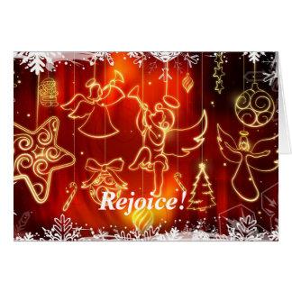 """Weihnachtsengelstrompeten """"große frohe Neuigkeiten Grußkarte"""