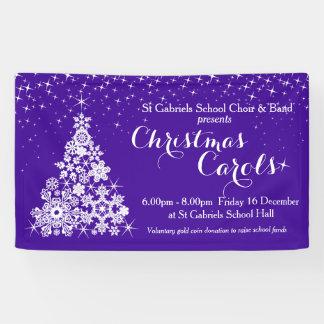 Weihnachtsereignisscheinbaumultraviolettfahne Banner